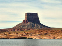 Sandstone of Glen Canyon, Lake Powell - Boat view Royalty Free Stock Images