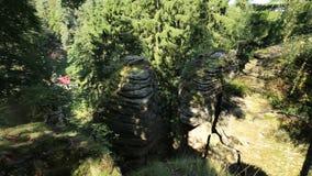 Sandstone hill tops in the Bohemia stock video
