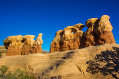 Sandstone Hoodoos. In Devils Gardern, Grand Staircase-Escalante National Monument, Utah Royalty Free Stock Photography