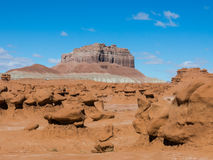 Sandstone hoodoos in Goblin Valley State park, Utah, USA. Sandstone hoodoos in Goblin Valley State park Stock Photo