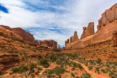 Sandstone landscape royalty free stock photo