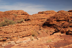 The sandstone layers at The Beehive domes Stock Photography