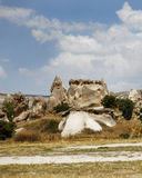 Sandstone and limestone formation Goreme Royalty Free Stock Photos