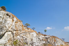 Sandstone massive mountain landmark Stock Photography
