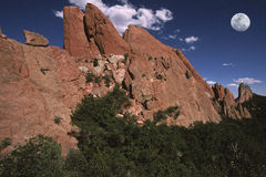 Sandstone Monoliths. Garden of The Gods, Colorado Springs, CO royalty free stock images