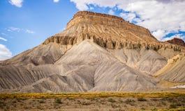 Sandstone Mountain. Beautiful sandstone mountain taken while traveling through Colorado Royalty Free Stock Photos