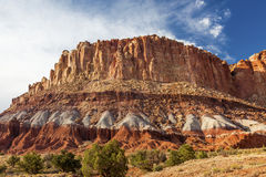 Sandstone Mountain Capitol Reef National Park Torrey Utah Stock Photography