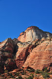 Sandstone Mountain Formation with Blue Sky and Clouds Stock Photography