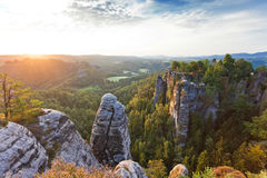 Sandstone mountains Stock Photos
