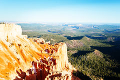 Sandstone mountains of Bryce Canyon in the sun Stock Photography