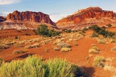 Sandstone Mountains Desert Capitol Reef National Park Torrey Utah Royalty Free Stock Photography
