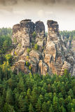 Sandstone Mountains in Saxony Royalty Free Stock Photos