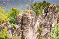 Sandstone Mountains in Saxony Stock Photography