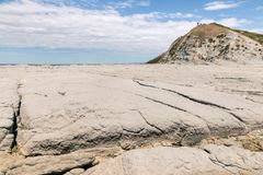 Sandstone ocean floor at low tide on Kaikoura coastline, New Zealand. Sandstone ocean floor at low tide on Kaikoura coastline, South Island, New Zealand Royalty Free Stock Images