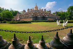 Sandstone Pagoda in Pa Kung Temple at Roi Et Royalty Free Stock Photos