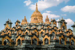 Sandstone Pagoda in Pa Kung Temple at Roi Et Stock Photos