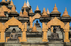 Sandstone Pagoda in Pa Kung Temple at Roi Et Stock Image