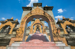 Sandstone Pagoda in Pa Kung Temple at Roi Et Royalty Free Stock Images