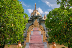 Sandstone Pagoda in Pa Kung Temple at Roi Et Stock Images