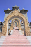 Sandstone Pagoda in Pa Kung Temple at Roi Et of Thailand. There is a place for meditation. Stock Photos