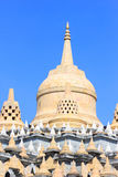 Sandstone Pagoda in Pa Kung Temple at Roi Et of Thailand. There is a place for meditation. Stock Photo