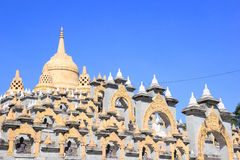 Sandstone Pagoda in Pa Kung Temple at Roi Et of Thailand. There is a place for meditation. Stock Photography