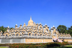 Sandstone Pagoda in Pa Kung Temple at Roi Et of Thailand. There is a place for meditation. Royalty Free Stock Images