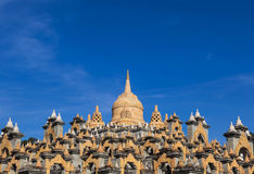 Sandstone pagoda in wat Pa Kung temple Royalty Free Stock Images