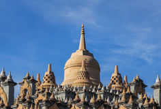 Sandstone pagoda in wat Pa Kung temple Stock Images