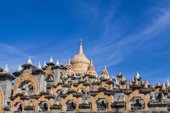 Sandstone pagoda in wat  Pa Kung temple at Roi Et of Thailand Royalty Free Stock Images