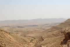 Sandstone pattern in the desert. Sandstone pattern on a hill in the Israeli desert Royalty Free Stock Photography
