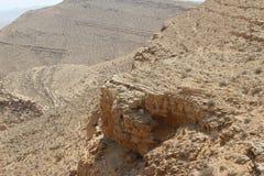 Sandstone pattern in the desert. Sandstone pattern on a hill in the Israeli desert Stock Photos