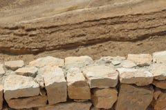 Sandstone pattern in the desert. Sandstone pattern on a hill in the Israeli desert Stock Images