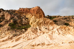 Sandstone patterns formed by erosion Stock Photography
