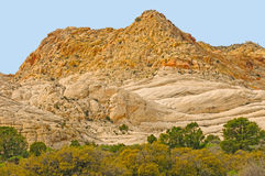 Sandstone Peaks in the Desert Stock Image