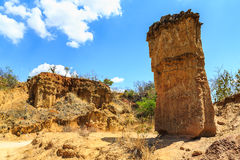 Sandstone pile in an African wild landscape Stock Image