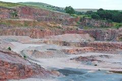 Sandstone quarry Stock Photos
