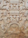 The sandstone relief. From southern of Thailand Stock Photography