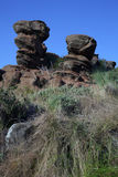 Sandstone rock. Formation in Magaliesburg area, North West Province, South Africa stock photos