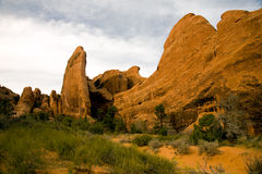 Sandstone rock formation. Located in Arches National Park, Utah stock images