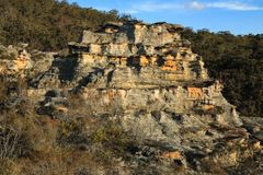 Sandstone Rock Formation, Blue Mountains National Park Royalty Free Stock Images