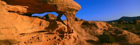 Sandstone Rock Formation At Sunrise Stock Images
