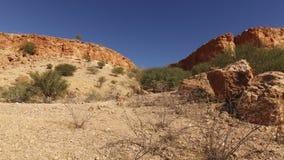 Sandstone rock landscape - Namibia stock video footage