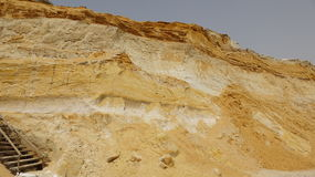 Sandstone Rock Quarry And Geology Stock Photography