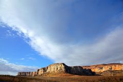 Sandstone rock and sky Royalty Free Stock Photography
