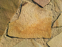 Sandstone Rock Texture. Close up picture of aggregate rock texture Royalty Free Stock Photo