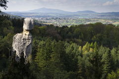 Sandstone rocks around Hruba Skala Castle in Bohemian Paradise Stock Photo