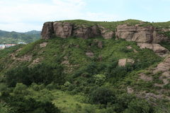 Sandstone Rocks of Chengde in China Royalty Free Stock Image