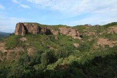 Sandstone Rocks of Chengde in China Stock Image