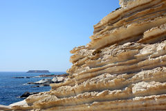Sandstone rocks in Cyprus Royalty Free Stock Photography